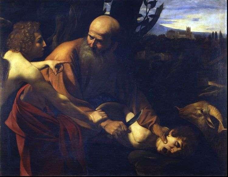 Принесение в жертву Исаака   Микеланджело Меризи да Караваджо