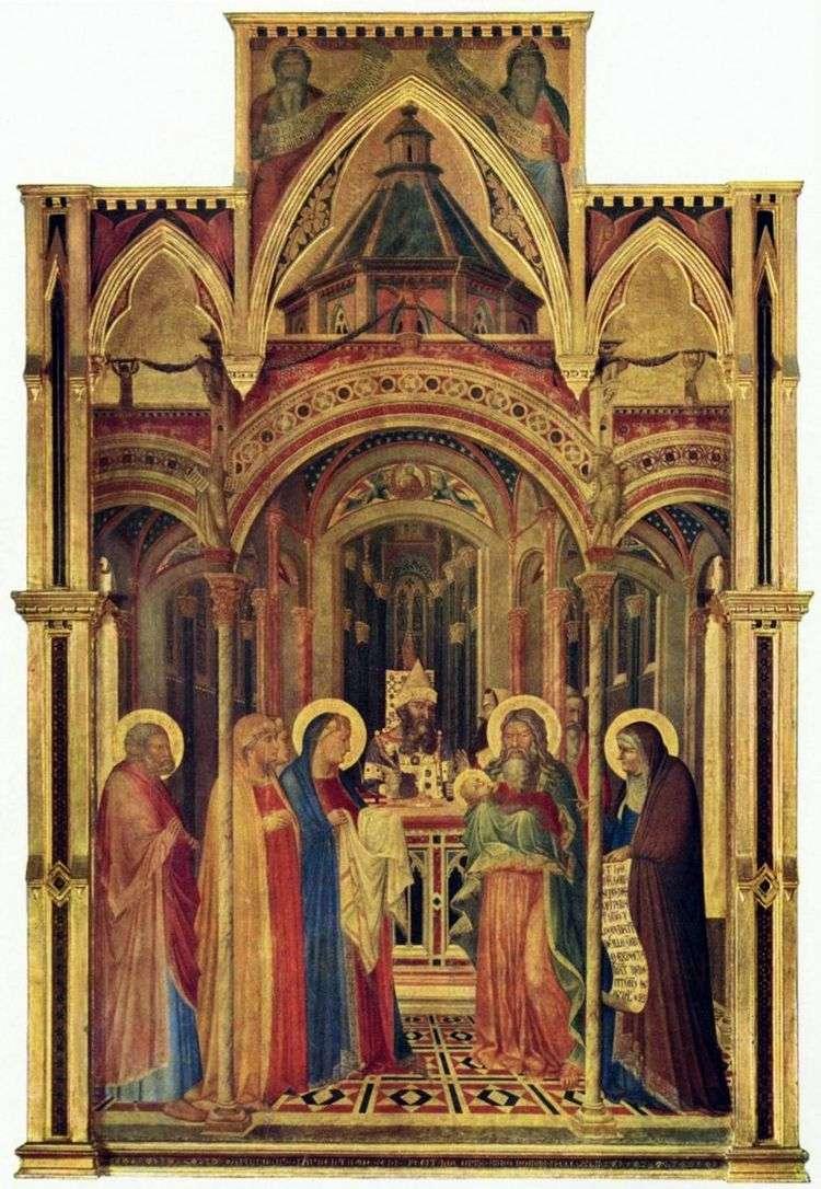 Принесение во храм   Амброджо Лоренцетти