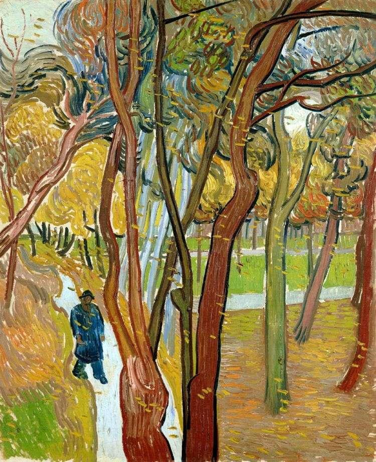 Осенний листопад, прогулка   Винсент Ван Гог