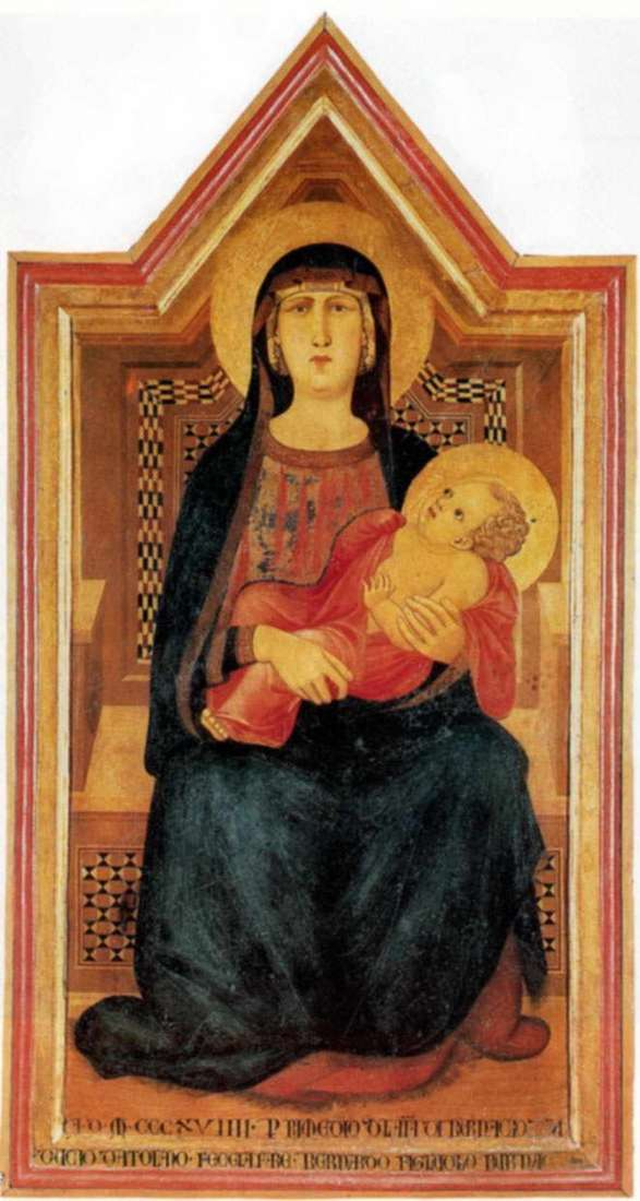 Мадонна из Вико лАбате   Пьетро Лоренцетти