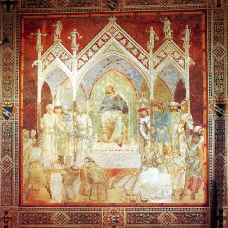 Мученичество францисканцев в Сеуте   Пьетро Лоренцетти