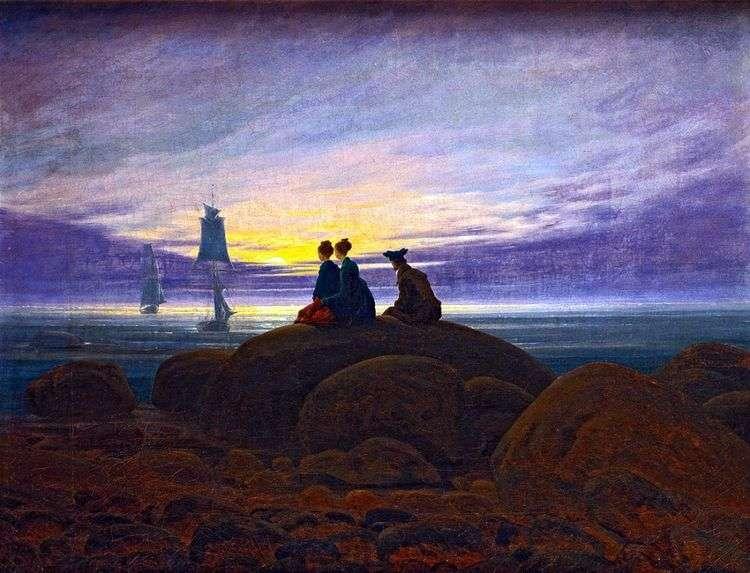 Восход Луны над морем   Каспар Давид Фридрих