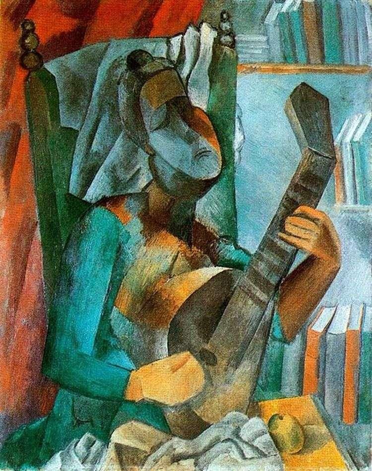 Женщина с мандолиной   Пабло Пикассо
