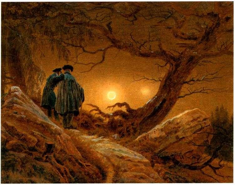 Двое, созерцающие Луну   Каспар Давид Фридрих