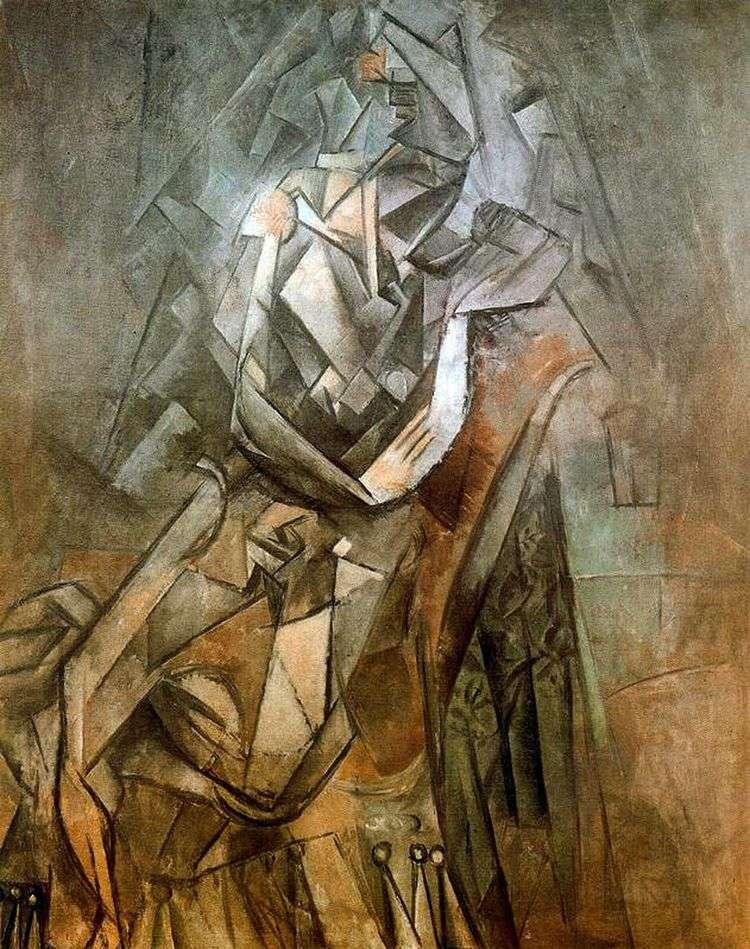 Женщина сидящая в кресле   Пабло Пикассо