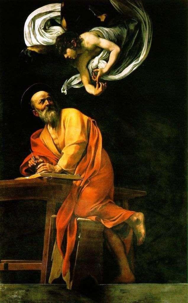 Святой Матфей и ангел   Микеланджело Меризи да Караваджо