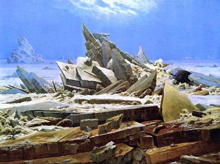 Кораблекрушение в Арктике   Каспар Давид Фридрих