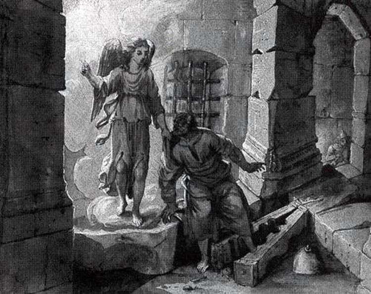 Освобождение святого Петра   Клод Лоррен