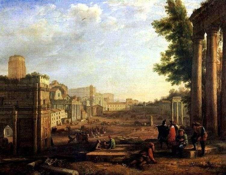 Вид Рима   Клод Лоррен