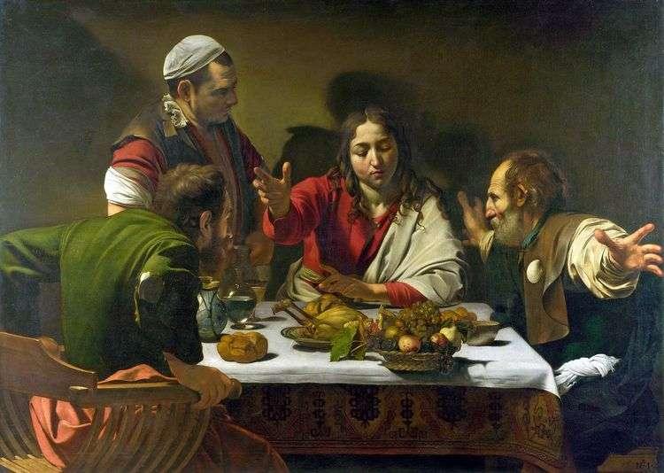 Ужин в Эммаусе   Микеланджело Меризи да Караваджо