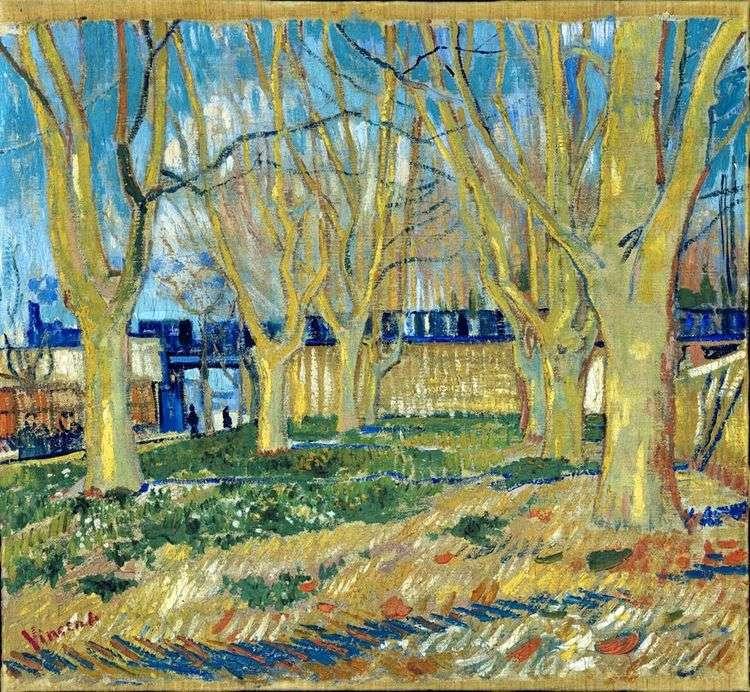 Платановая аллея   Винсент Ван Гог