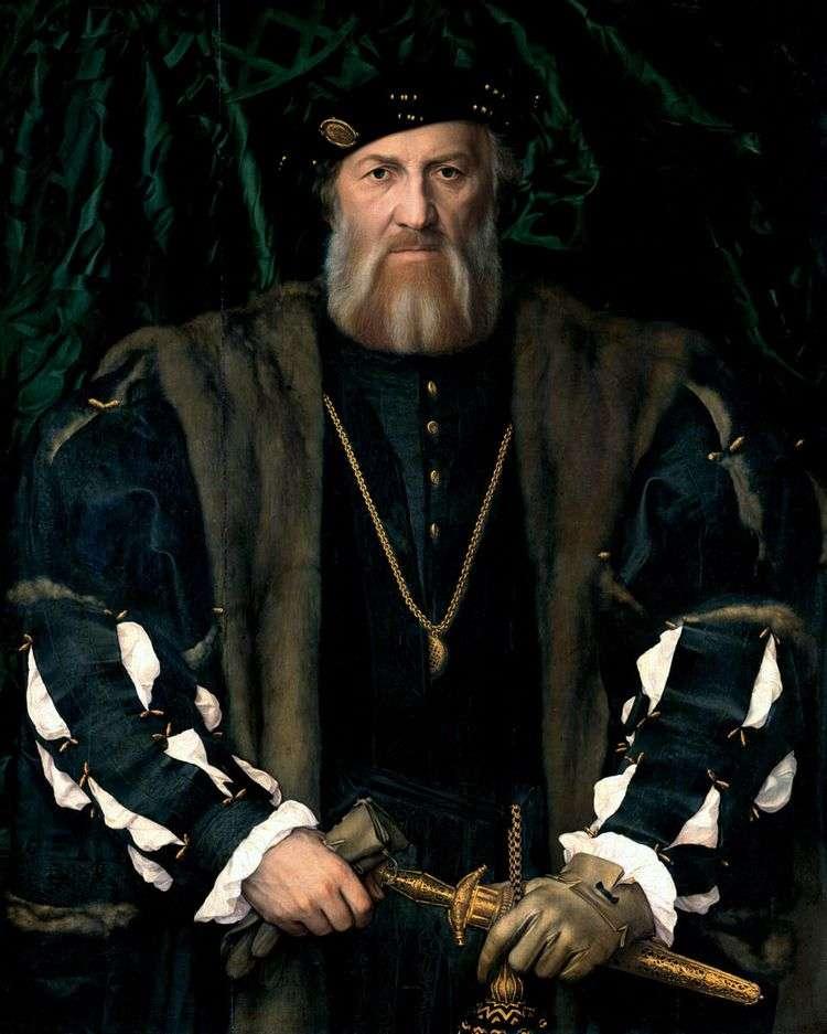Портрет французского посла в Англии сэра Моретта Шарля де Солье   Ганс Гольбейн
