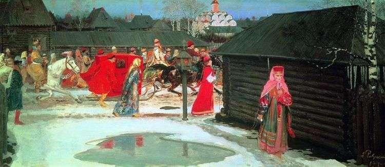 Свадебный поезд в Москве (XVII столетие)   Андрей Рябушкин