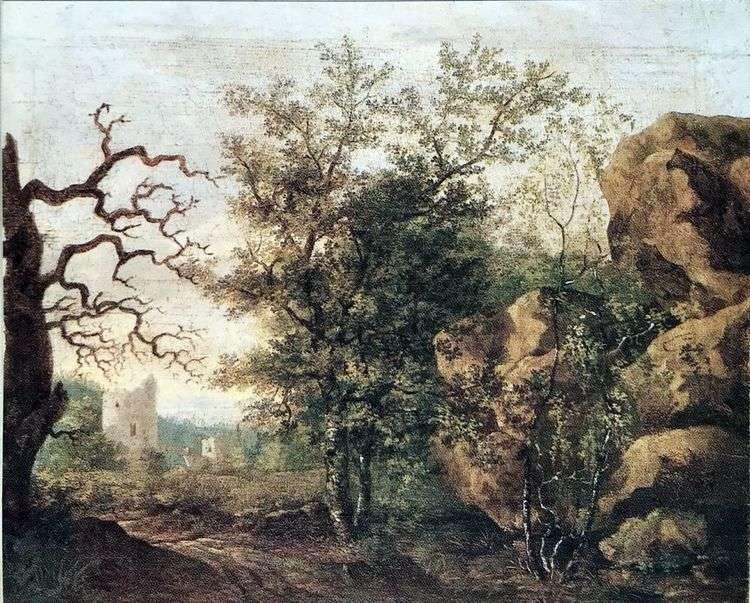 Пейзаж с засохшим деревом   Каспар Давид Фридрих