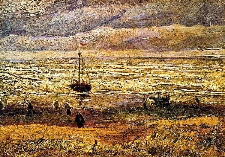 Пляж в Схевенингене   Винсент Ван Гог