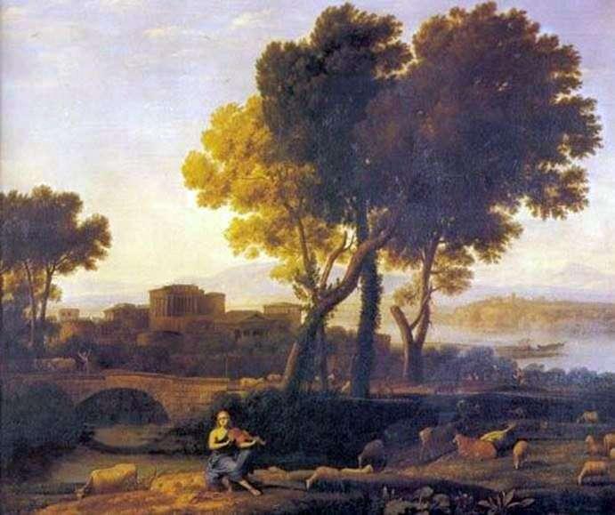 Пейзаж с Аполлоном и Меркурием   Клод Лоррен
