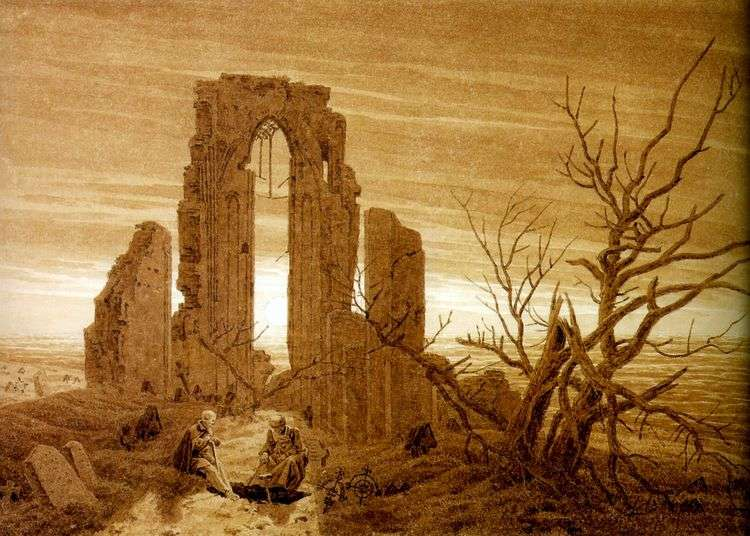 Руины аббатства в Эльдене   Каспар Давид Фридрих