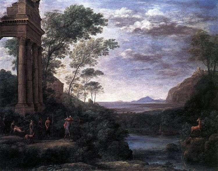 Пейзаж с Асканием, стреляющим в оленя   Клод Лоррен