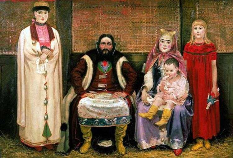 Семья купца в 17 м веке   Андрей Рябушкин