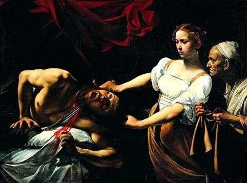Юдифь, убивающая Олоферна   Микеланджело Меризи да Караваджо