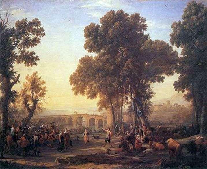 Пейзаж с деревенским танцем   Клод Лоррен