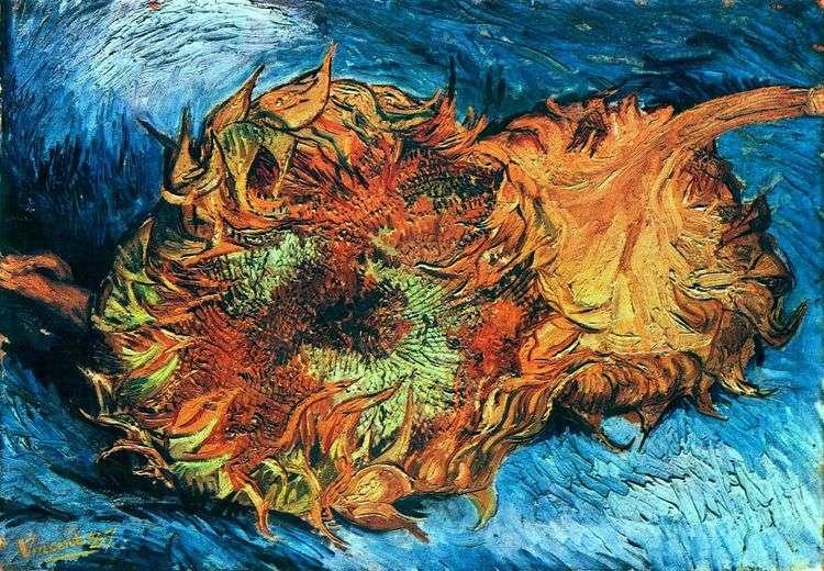 Подсолнухи. Два срезанных подсолнуха   Винсент Ван Гог
