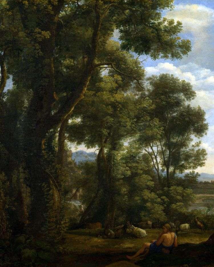 Пейзаж с козопасом и козами   Клод Лоррен