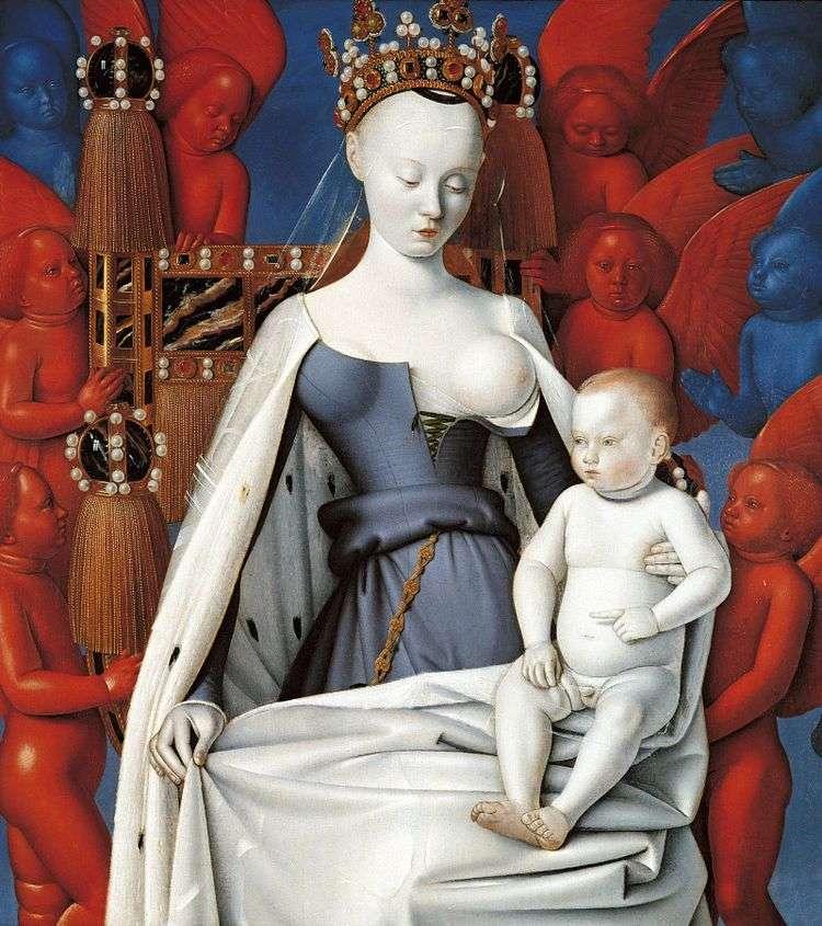 Мадонна с младенцем   Жан Фуке