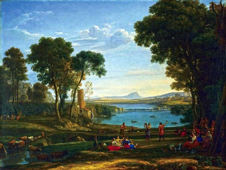 Пейзаж со сценой бракосочетания Исаака и Ревекки   Клод Лоррен