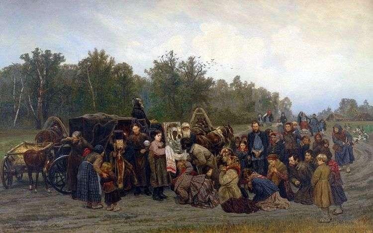 Встреча иконы   Константин Савицкий