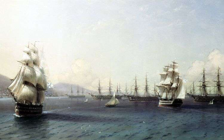 Черноморский флот в Феодосии   Иван Айвазовский
