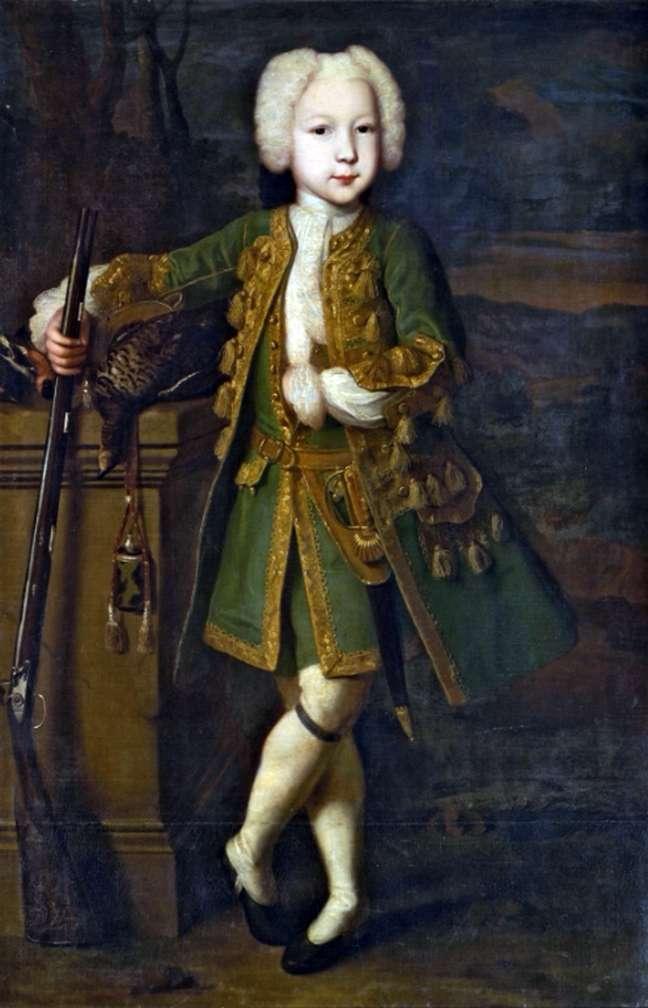Портрет мальчика в охотничьем костюме   Луи Каравакк
