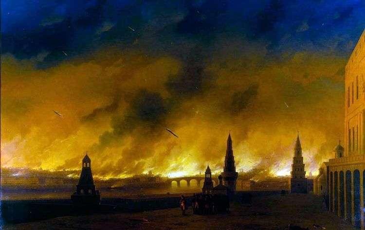 Пожар Москвы в 1812 году   Иван Айвазовский