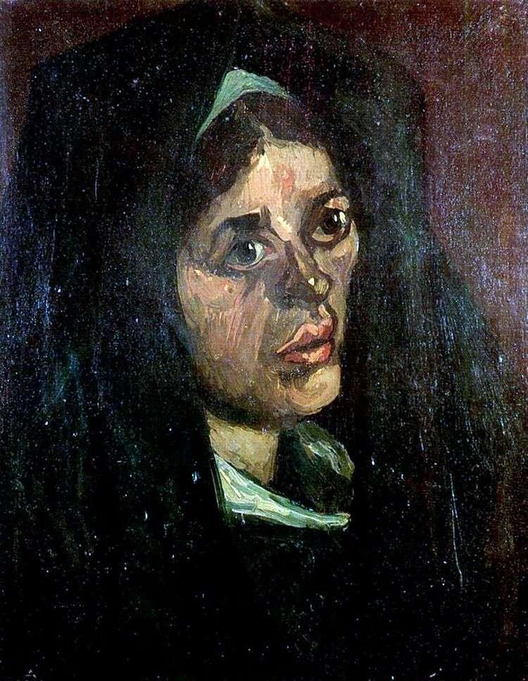 Портрет крестьянки в зеленой шали   Винсент Ван Гог