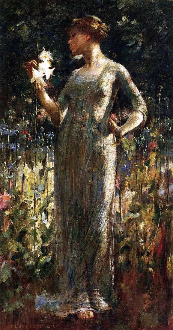 Дочь ночи (Девушка с букетом лилий)   Джон Уайт Александер