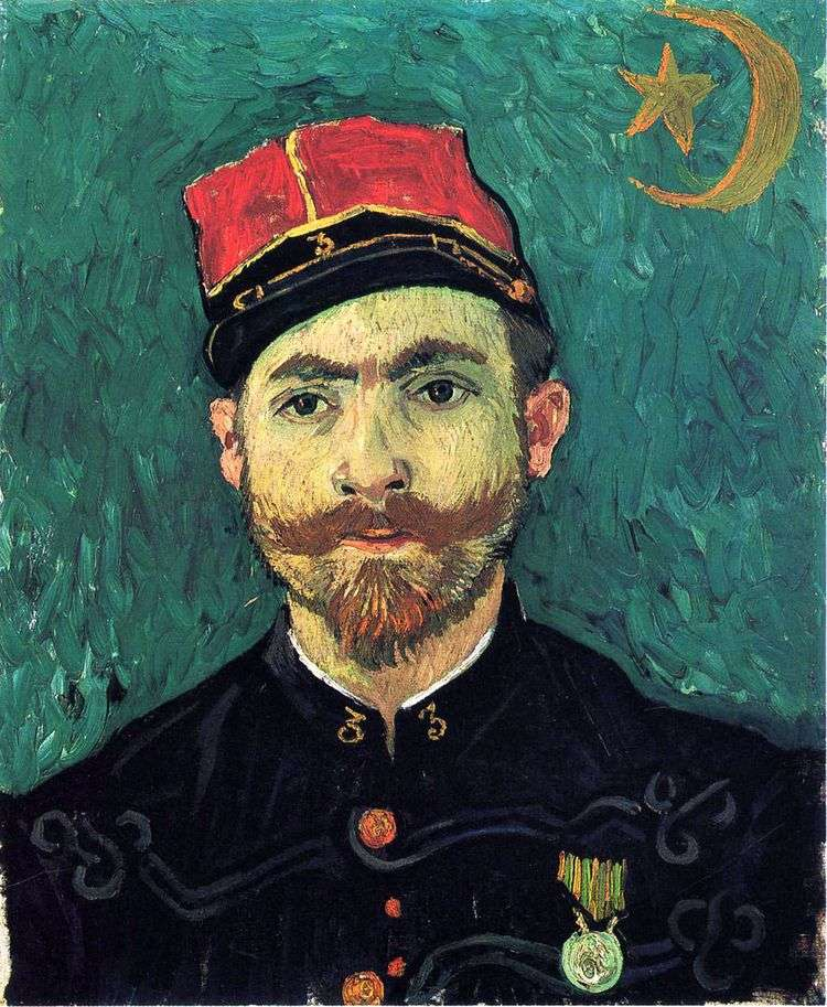 Портрет Милле, второго лейтенанта Зуавского полка   Винсент Ван Гог