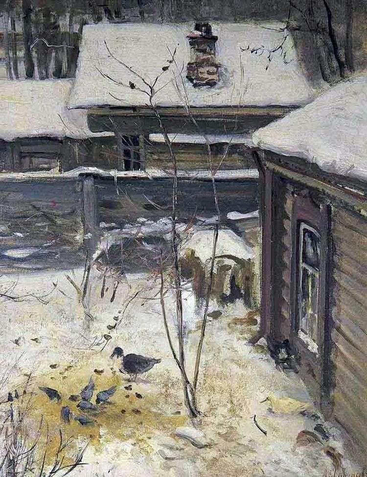 Дворик. Зима   Алексей Саврасов