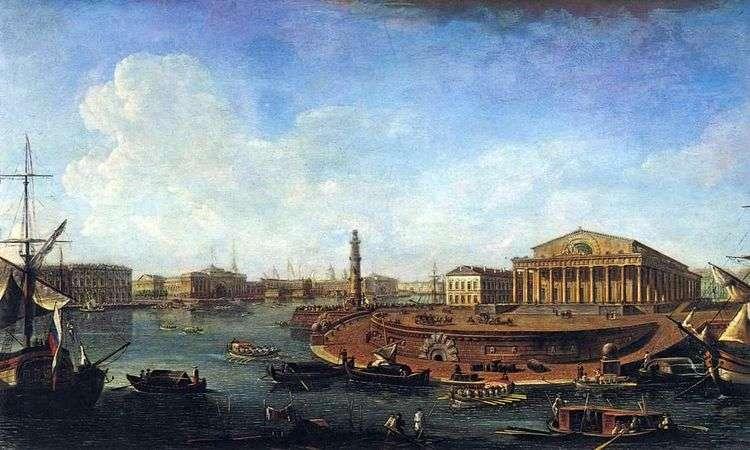 Вид на Биржу и Адмиралтейство от Петропавловской крепости   Федор Алексеев