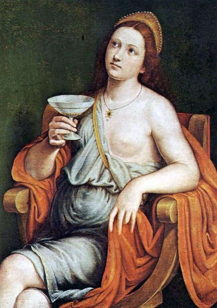 Софонисба выпивает яд   Джованни Франческо Карото