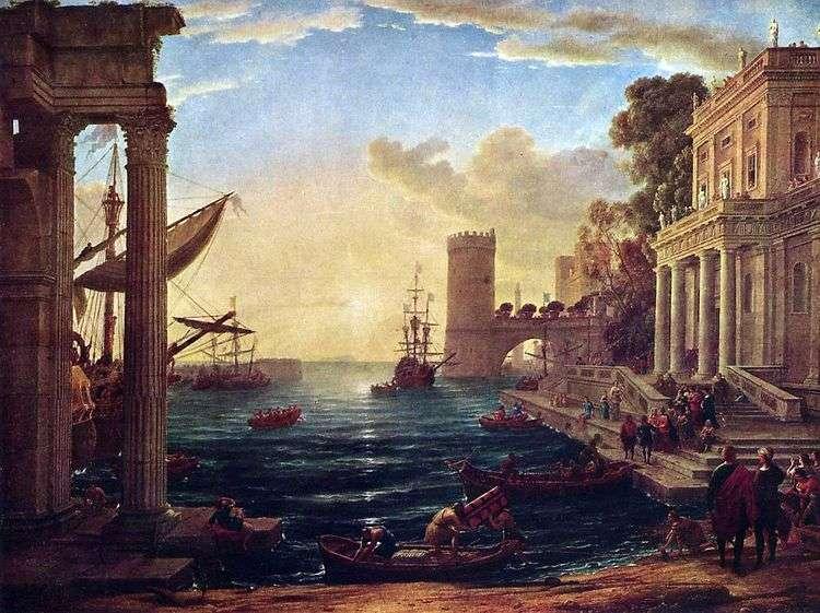 Отплытие царицы Савской   Клод Лоррен