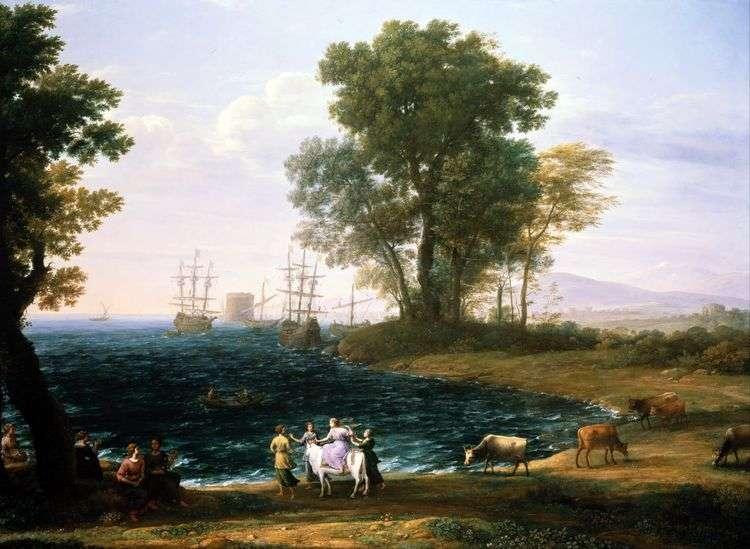 Похищение Европы   Клод Лоррен