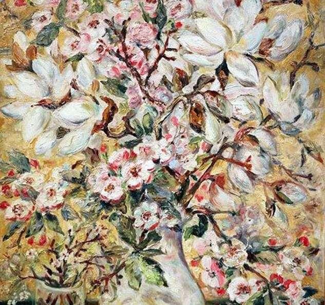 Ваза с цветами   Наталья Гончарова