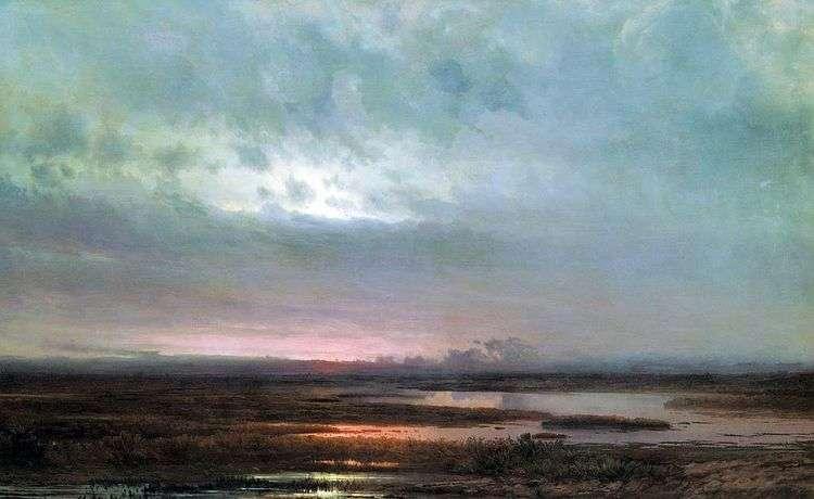 Закат над болотом   Алексей Саврасов