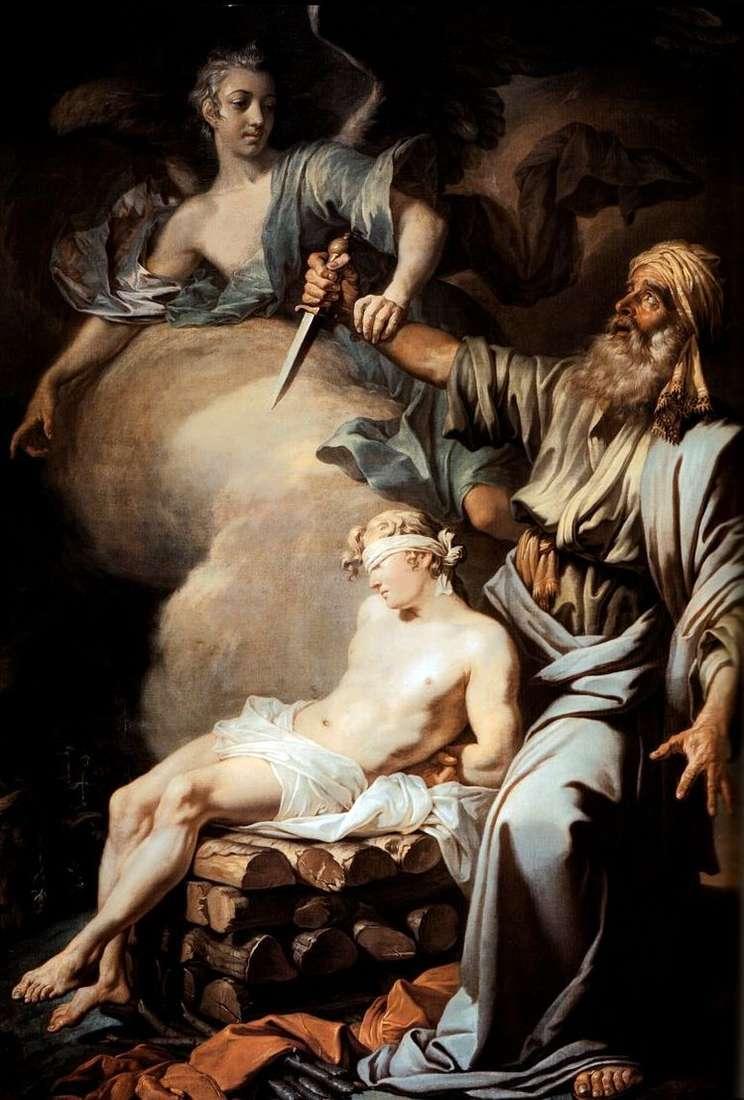 Авраам приносит в жертву сына своего Исаака (Жертвоприношение Авраама)   Антон Лосенко