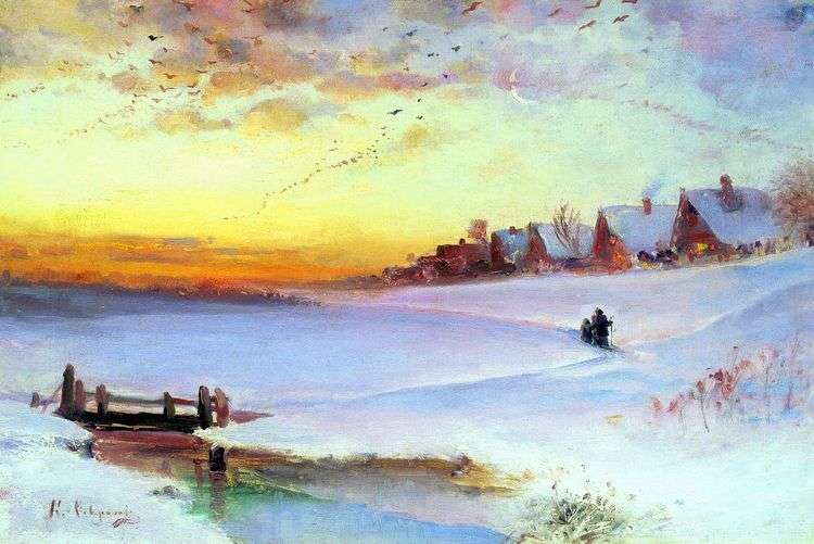 Зимний пейзаж (Оттепель)   Алексей Саврасов