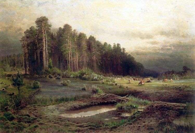 Лосиный остров в Сокольниках   Алексей Саврасов