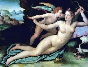 Венера и Купидон   Алессандро Аллори