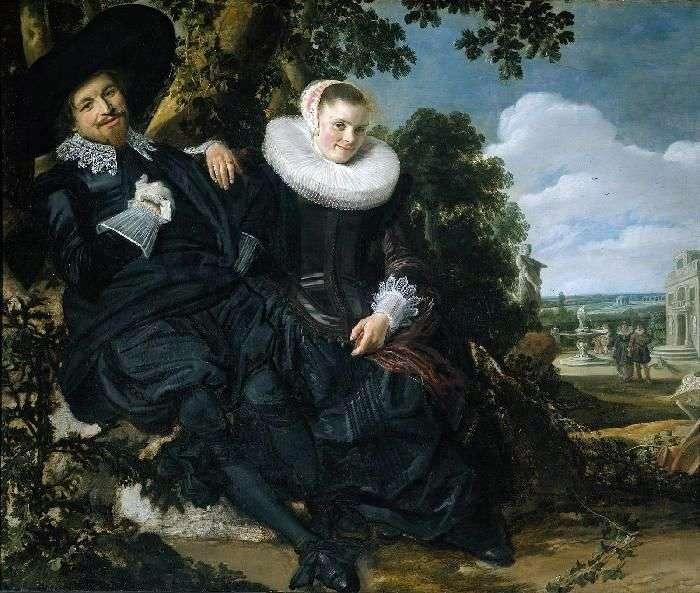 Семейный портрет Исаака Массы и его жены   Франс Халс