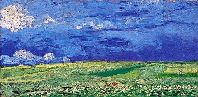 Пшеничное поле под облачным небом   Винсент Ван Гог