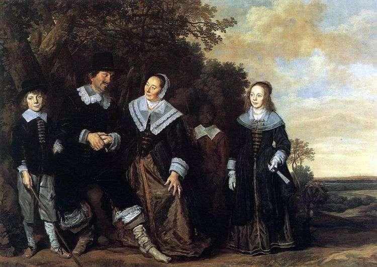 Семейный портрет на фоне пейзажа   Франс Халс
